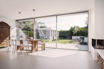 Okna przesuwne aluminiowe Cero – wnętrze